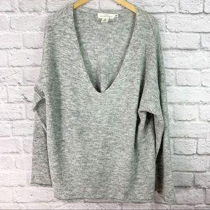 H&M LOGG Size M Oversize Sweater Deep V Neck